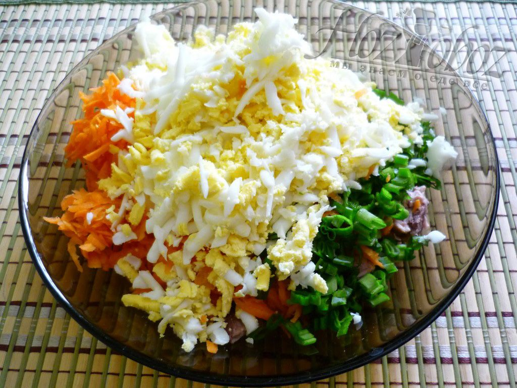 Фоторецепты салата с консервированным тунцом