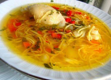 Суп из домашней лапшы
