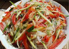 Салат фунчоза по-корейски, рецепт