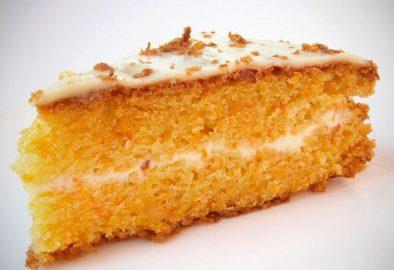 Морковный пирог в глазури
