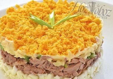 "Салат ""Мимоза"" с лососем"