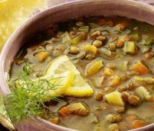 Суп пюре из чечевицы