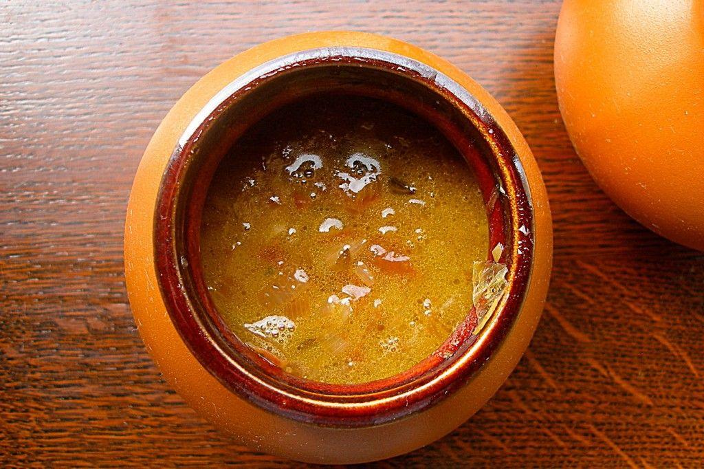 Разливаем суп в порционную посуду