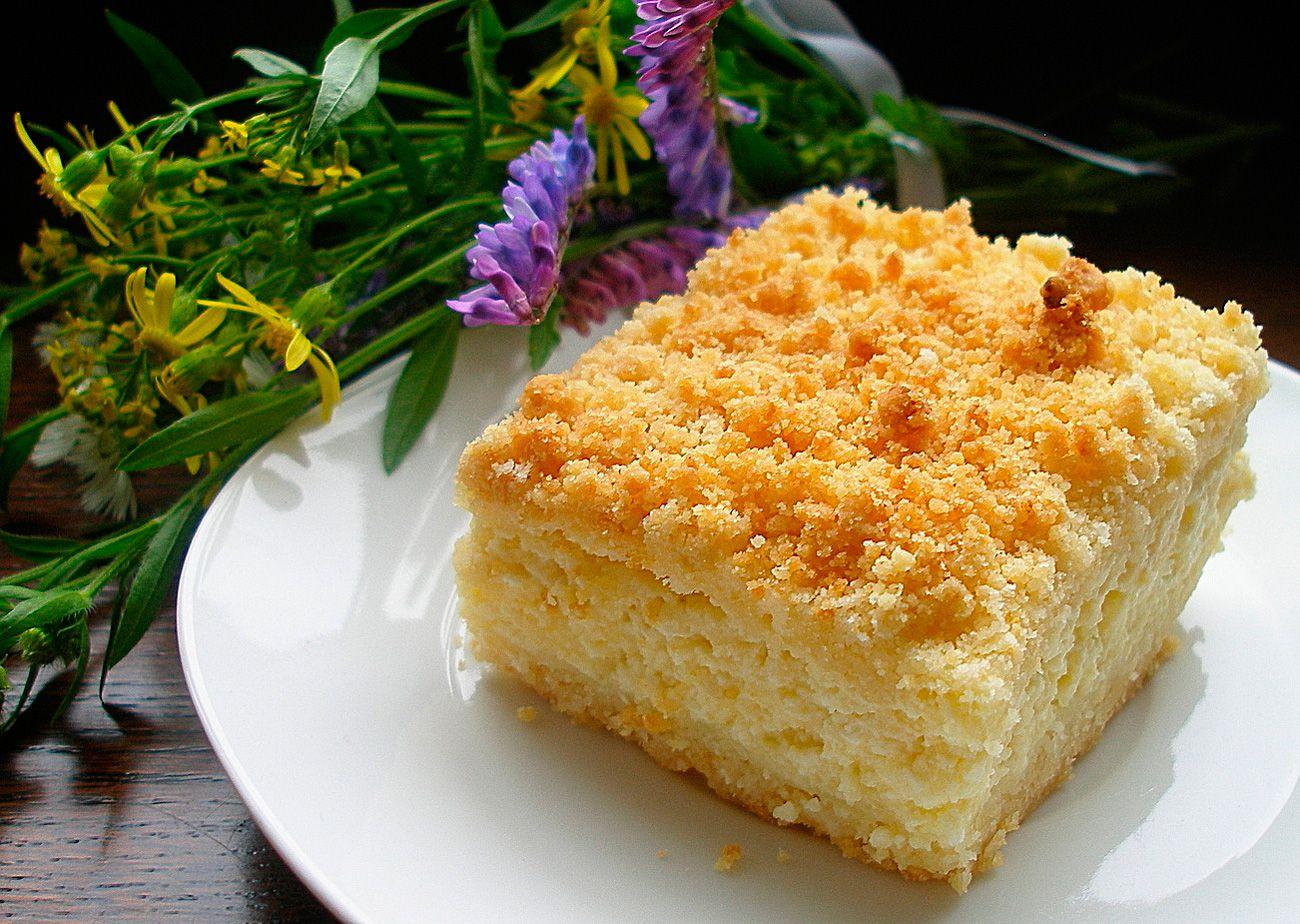 Творожный пирог простой рецепт с фото