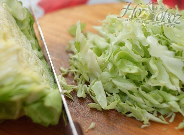 Далее шинкуем капусту для боннского супа