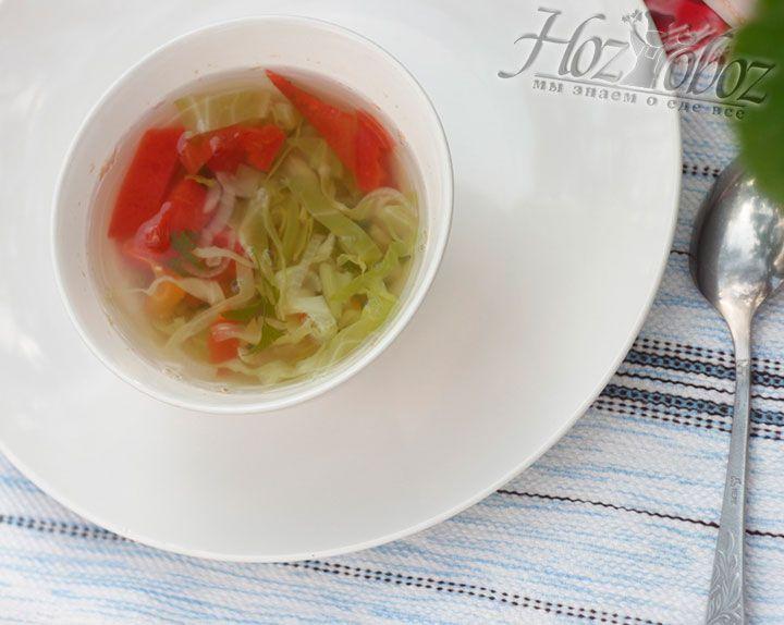 Подать суп вы сможете сразу же после приготовления