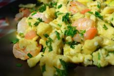 Омлет с морепродуктами