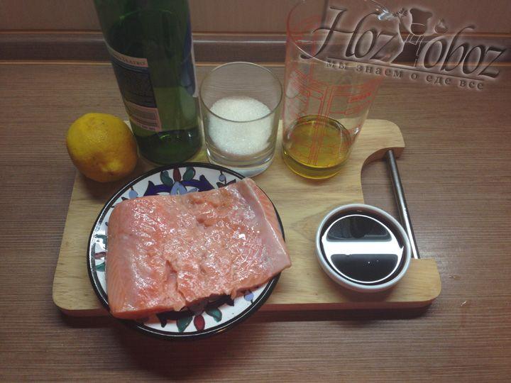 Продукты для запекания семги в духовке