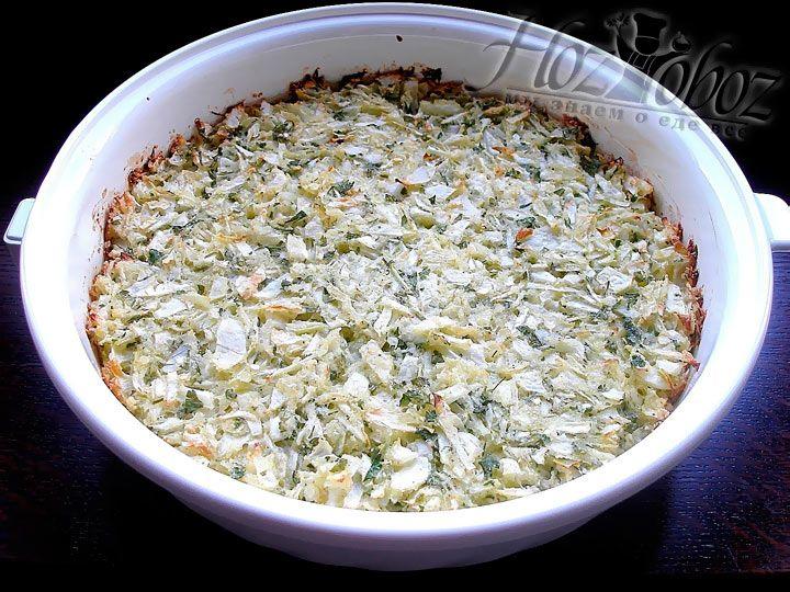 Вот так выглядит капустная запеканка, которую мы приготовили :)