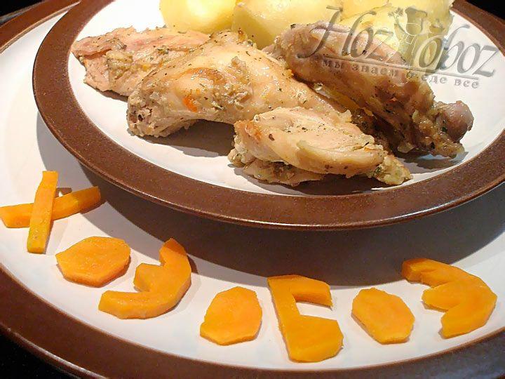 Кролик в духовке с картошкой от поваров Хозобоз-а :)