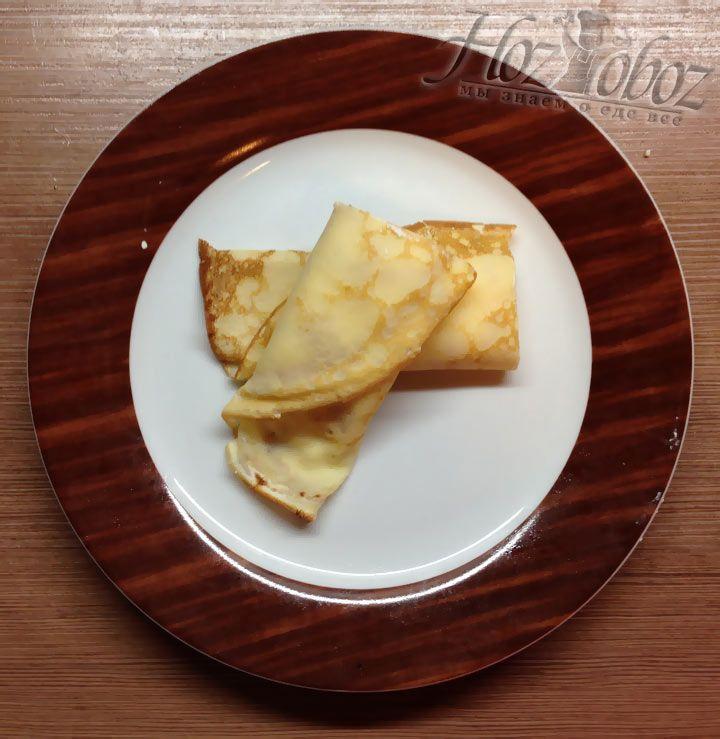 Каждую трубочку следует разрезать на две части и кушать с удовольствием