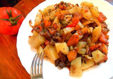 Рецепт мясного рагу с овощами