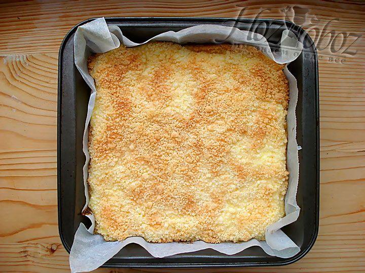 Вот такой красивый творожный пирог получился у нас :)