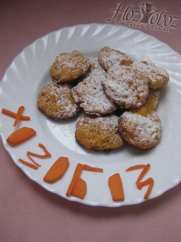 Вот так должно выглядеть готовое морковное печенье