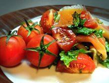 Рецепт салата с помидорами черри