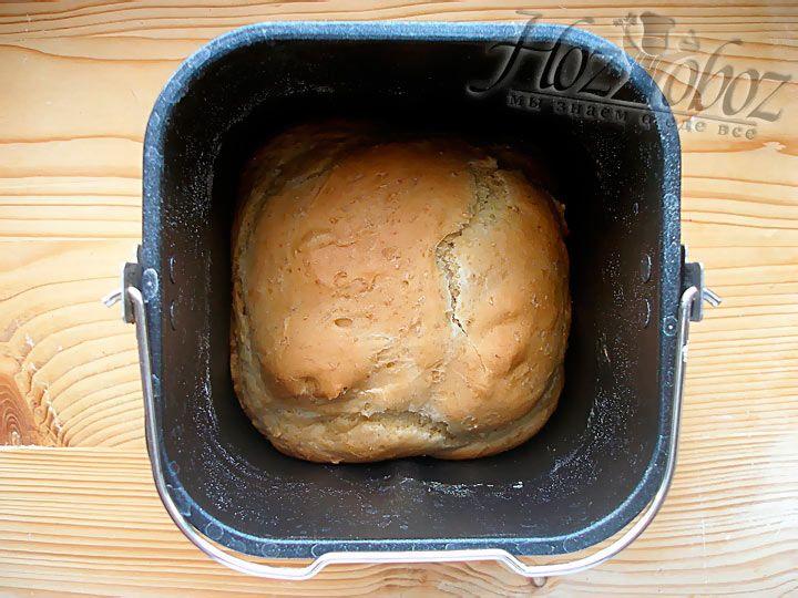 Примерно через 2 с половиной часов получается отличный хлебушек, как на фото