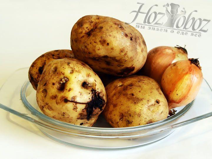 Моем и чистим картофель