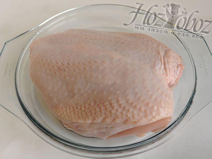 Промываем куриное филе