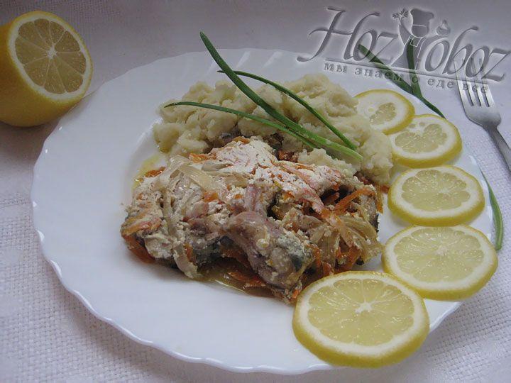 Кушать такую рыбу нужно горячей с гарниром или без