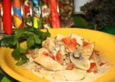 Рецепт куриной грудки в сливочном соусе
