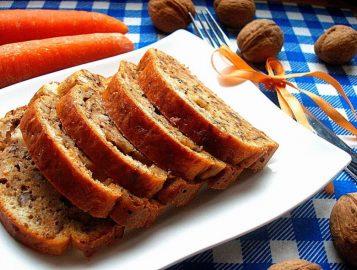 Диетический морковный кекс с творогом для правильного питания