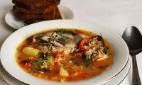 Рыбный суп из лосося по-балкански