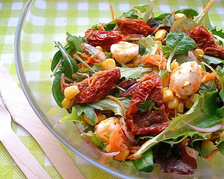 Рецепты салатов с сушеными помидорами
