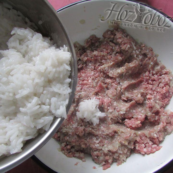 Добавим приваренный рис