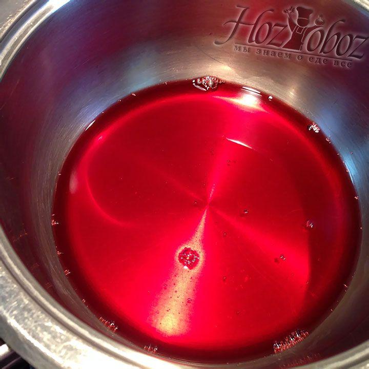 Остатки вишневого сока следует довести до кипения