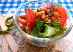 Как приготовить салат с фасолью и помидорами