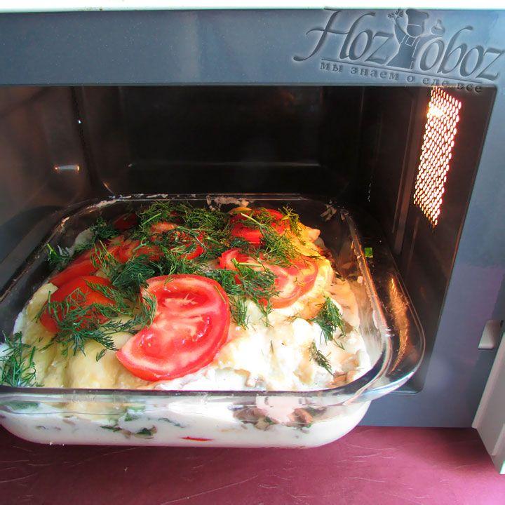 Готовить лазанью следует в микроволновой печи около 45 минут