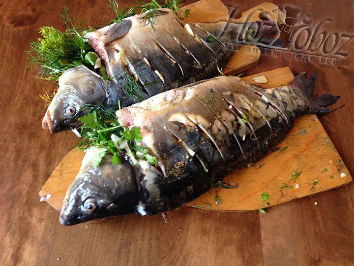 Замаринованная рыба будет пропитываться около 1 часа