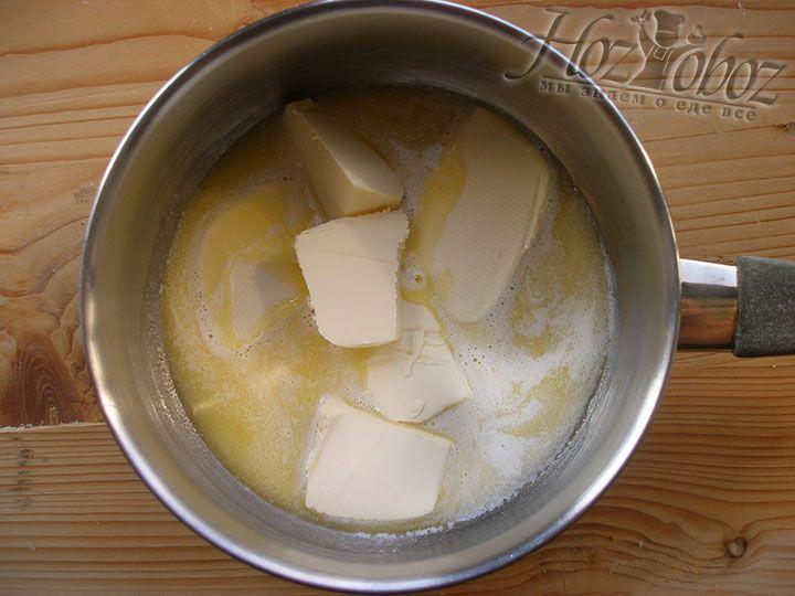 Сливочное масло используем растопленное или просто размягченное