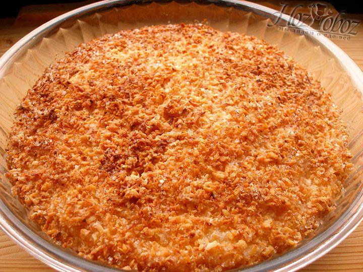 Вот таким должен получится готовый кокосовый пирог со сливками
