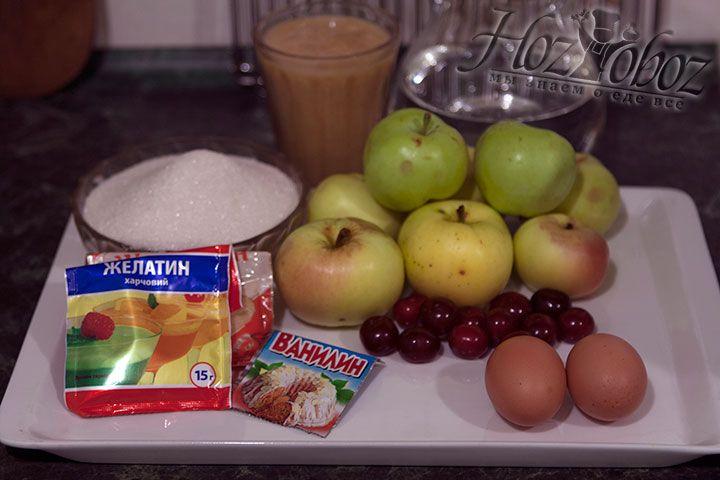 Заготовим все продукты, которые понадобятся для приготовления зефира