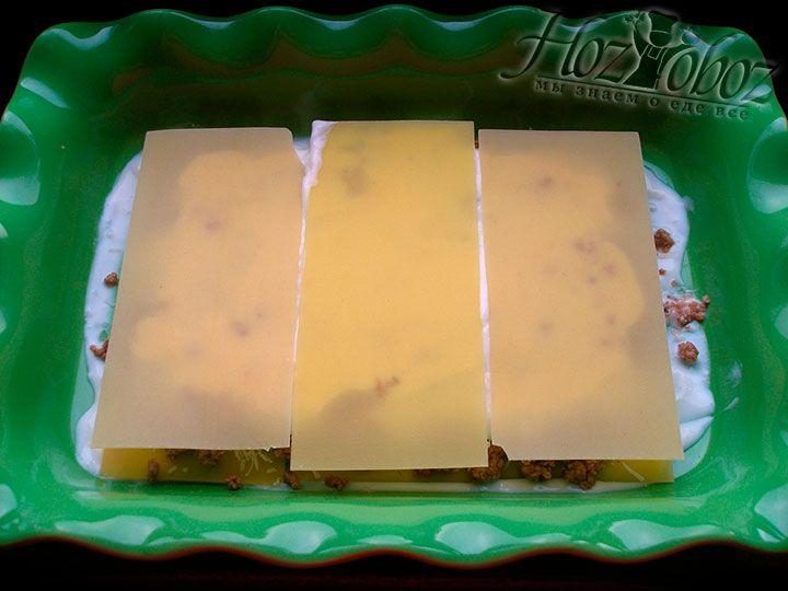 Повторяем слой листов из теста для лазаньи