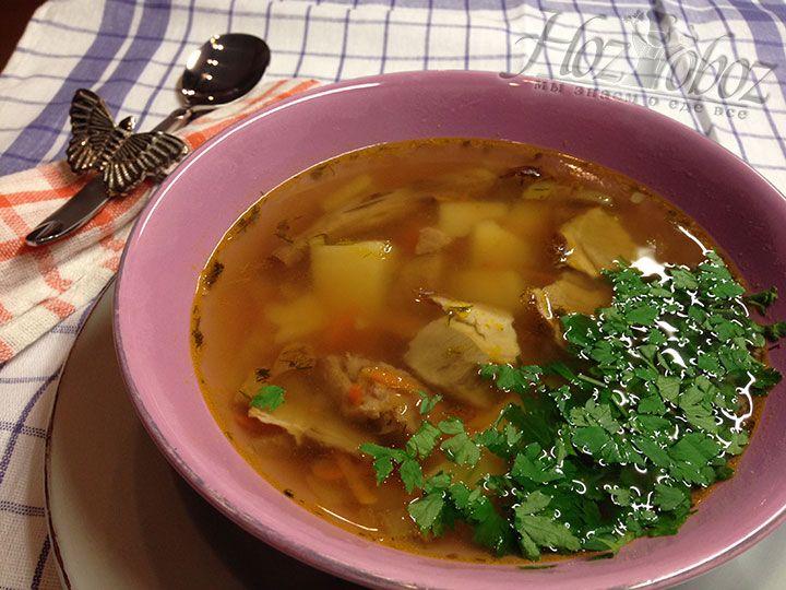 Ну вот - пора к столу, насладиться ароматом и вкусом настоящего грибного супа