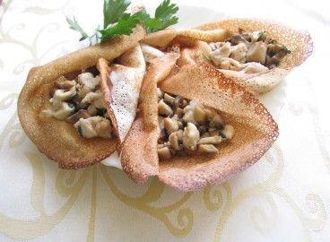 Блины с курицей и грибами