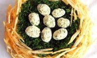 Салат гнездо глухаря, рецепт классический