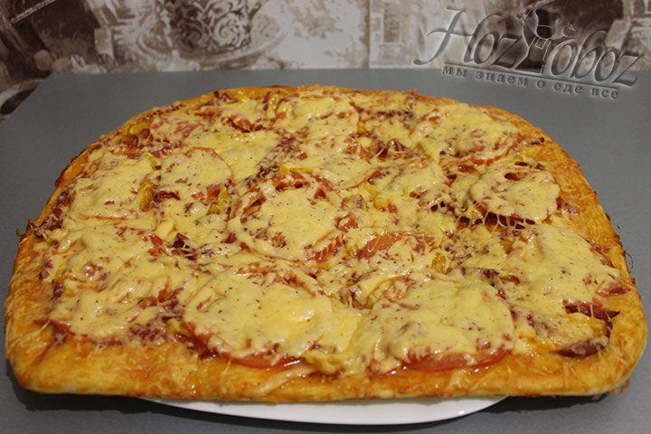 По прошествии отведенного времени получится вот такая пицца