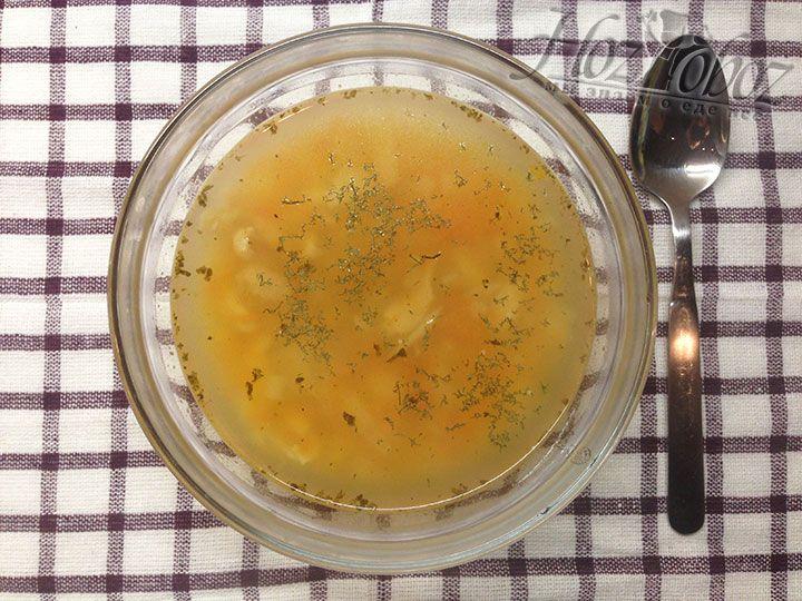 Ну вот и все остужаем суп до 40 градусов и подаем к столу. Приятного всем аппетита