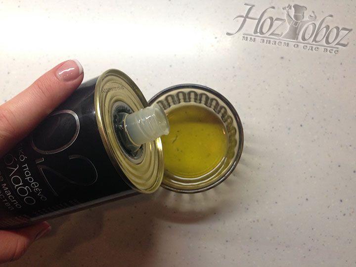 В качестве основы для соуса берем растительное масло