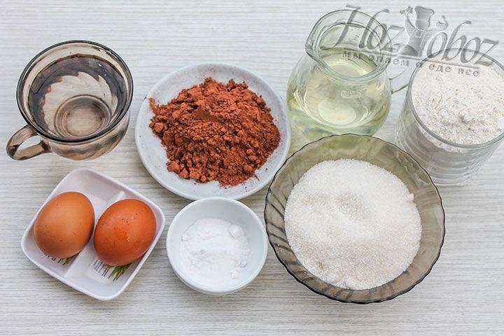 Подготовим необходимые для бисквита продукты