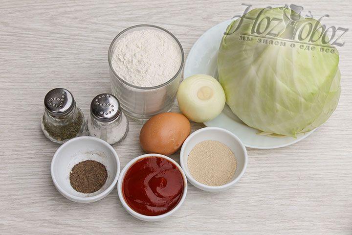 Заготовим все продукты, которые пригодятся для приготовления кулебяки