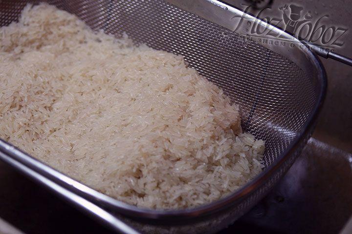 Для гарнира используем рис сорта «Жасмин»