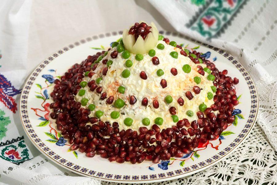 Салат шапка мономаха с фото гранат cdbybyf