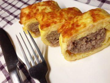 Сырно мясной рулет