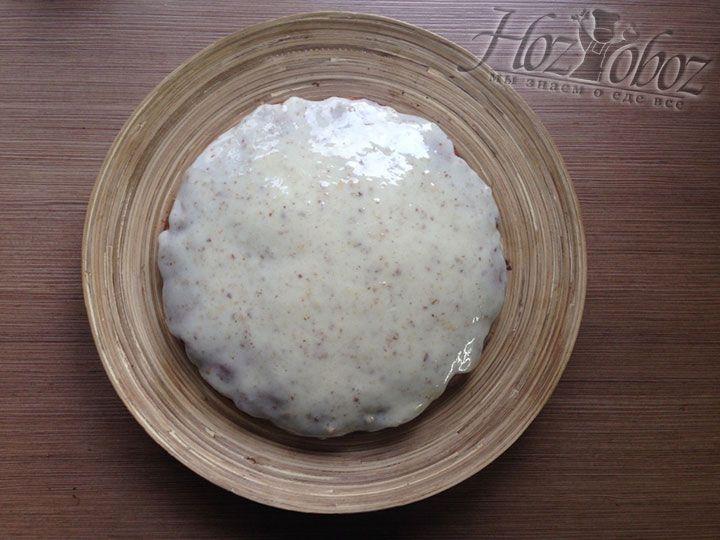 Намазывать пирог следует тогда когда он полностью остынет