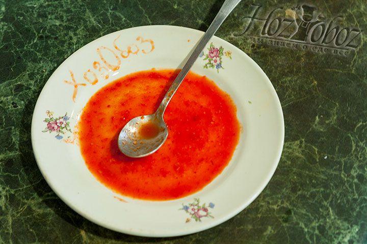 Вот и все - соус Табаско домашнего приготовления теперь готов