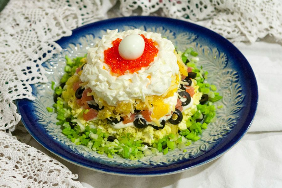 Рецепт салата жемчужина с